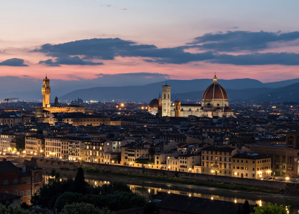 The St. Regis Florence Luxury Hotel - Florence, Italy - Basilica of Santa Maria del Fiore at Night