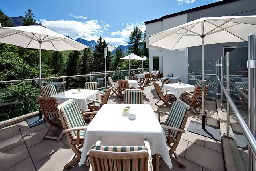 Tschuggen Grand Luxury Hotel - Arosa, Switzerland - Outdoor Patio