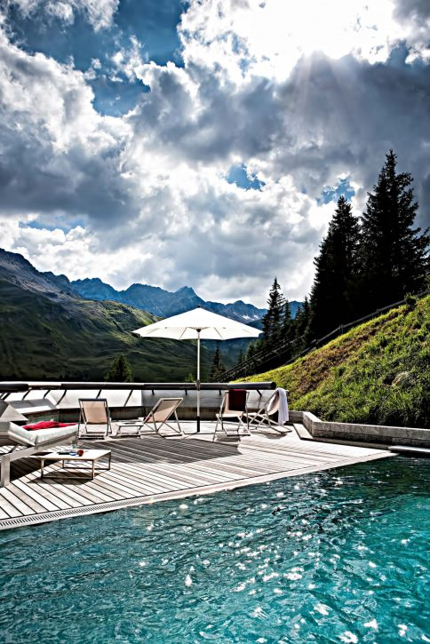 Tschuggen Grand Luxury Hotel - Arosa, Switzerland - Outdoor Pool Deck View