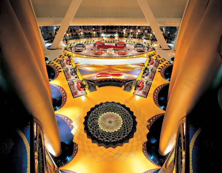 Burj Al Arab Luxury Hotel - Jumeirah St, Dubai, UAE - Mezzanine View