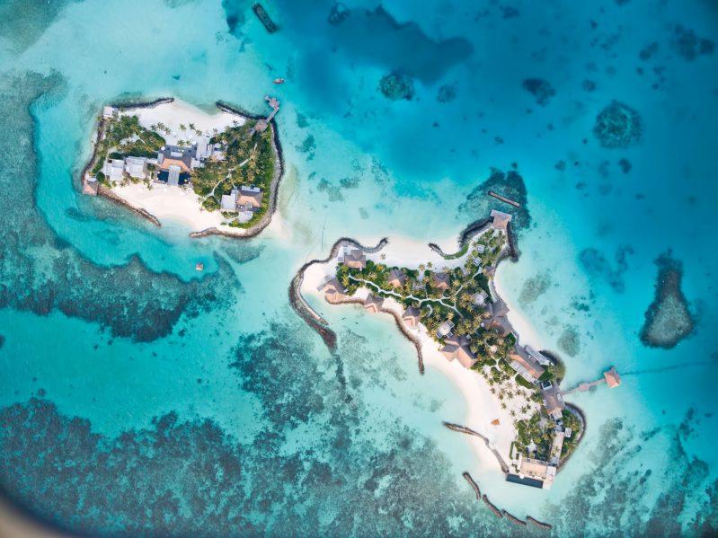 Cheval Blanc Randheli Luxury Resort - Noonu Atoll, Maldives - Private Island Resort Overhead Aerial View