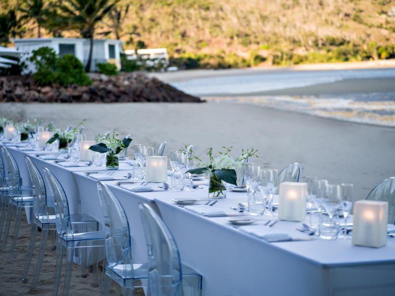 InterContinental Hayman Island Resort - Whitsunday Islands, Australia - Banquet Tables Coconut Beach