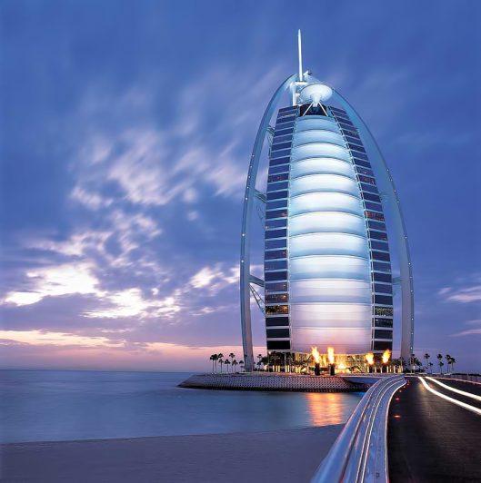 Burj Al Arab Luxury Hotel - Jumeirah St, Dubai, UAE - Twilight