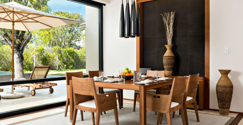 Amanyara Luxury Resort - Providenciales, Turks and Caicos Islands - Villa Dining Room Pool View