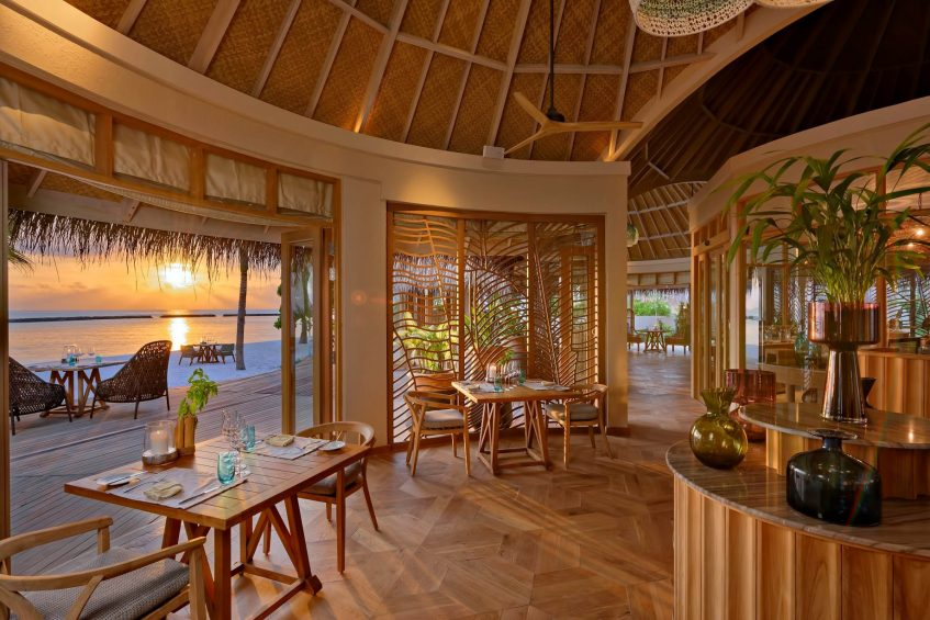 The Nautilus Maldives Luxury Resort - Thiladhoo Island, Maldives - Restaurant Sunset