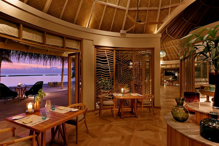 The Nautilus Maldives Luxury Resort - Thiladhoo Island, Maldives - Restaurant Dusk