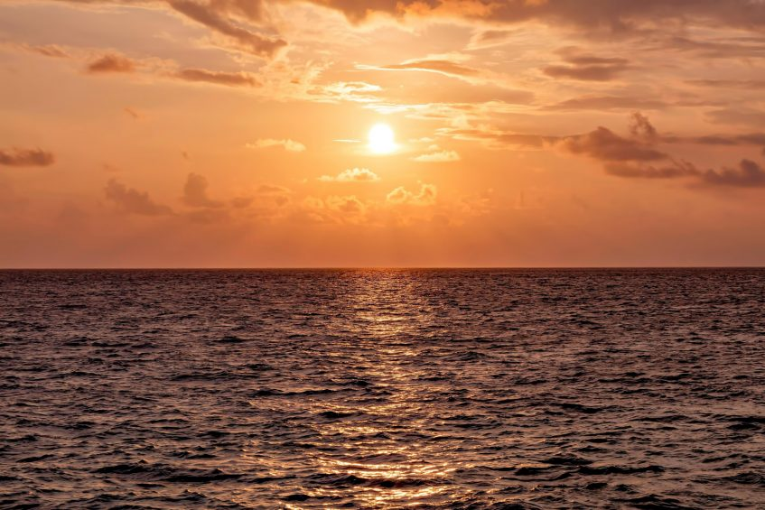 The St. Regis Maldives Vommuli Luxury Resort - Dhaalu Atoll, Maldives - Sunset over the Ocean