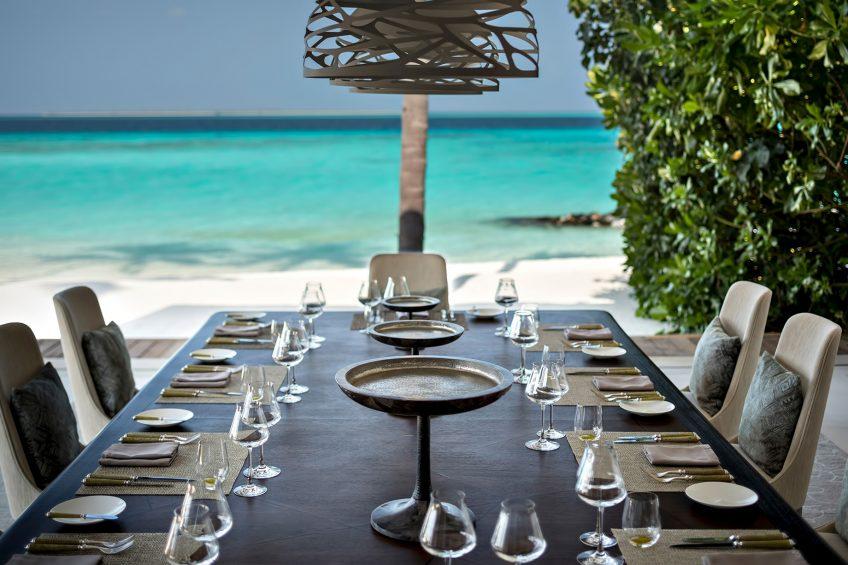 Cheval Blanc Randheli Luxury Resort - Noonu Atoll, Maldives - Exclusive Private Island Villa Dining Table Ocean View