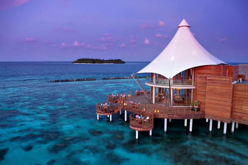 The Nautilus Maldives Luxury Resort - Thiladhoo Island, Maldives - Zeytoun Restaurant Dusk