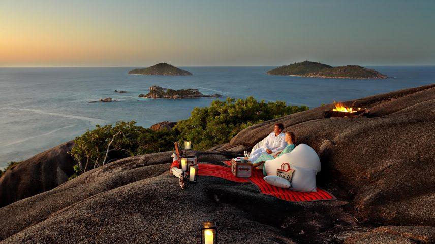 Six Senses Zil Pasyon Luxury Resort - Felicite Island, Seychelles - Sunset Cocktails on Hilltop
