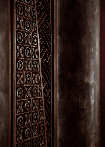 One&Only Reethi Rah Luxury Resort - North Male Atoll, Maldives - Reception Wood Panel Detail