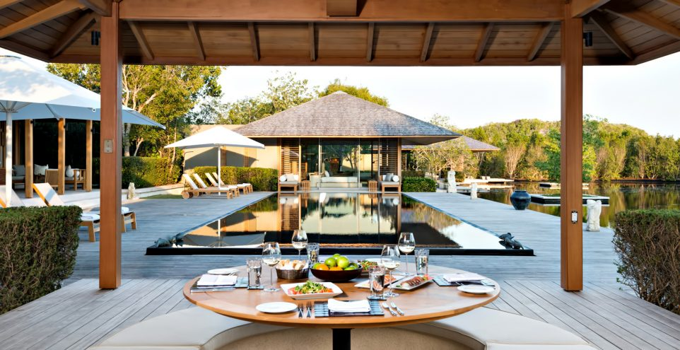 Amanyara Luxury Resort - Providenciales, Turks and Caicos Islands - Villa Outside Dining Pool View
