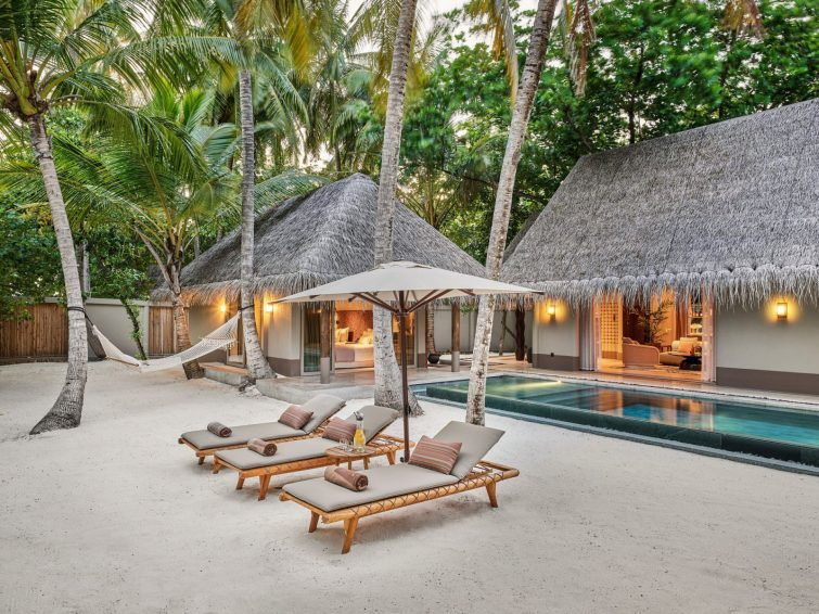 Joali Maldives Luxury Resort - Muravandhoo Island, Maldives - Poolside Beach Chairs