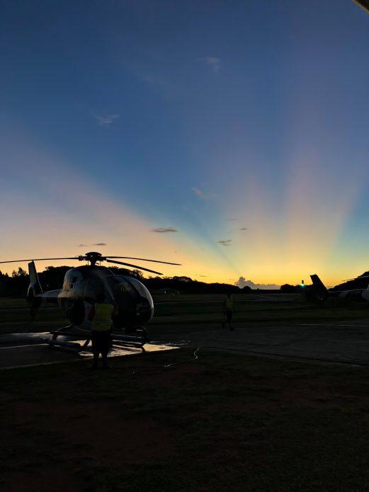 Six Senses Zil Pasyon Luxury Resort - Felicite Island, Seychelles - Helicopter Pad Sunset