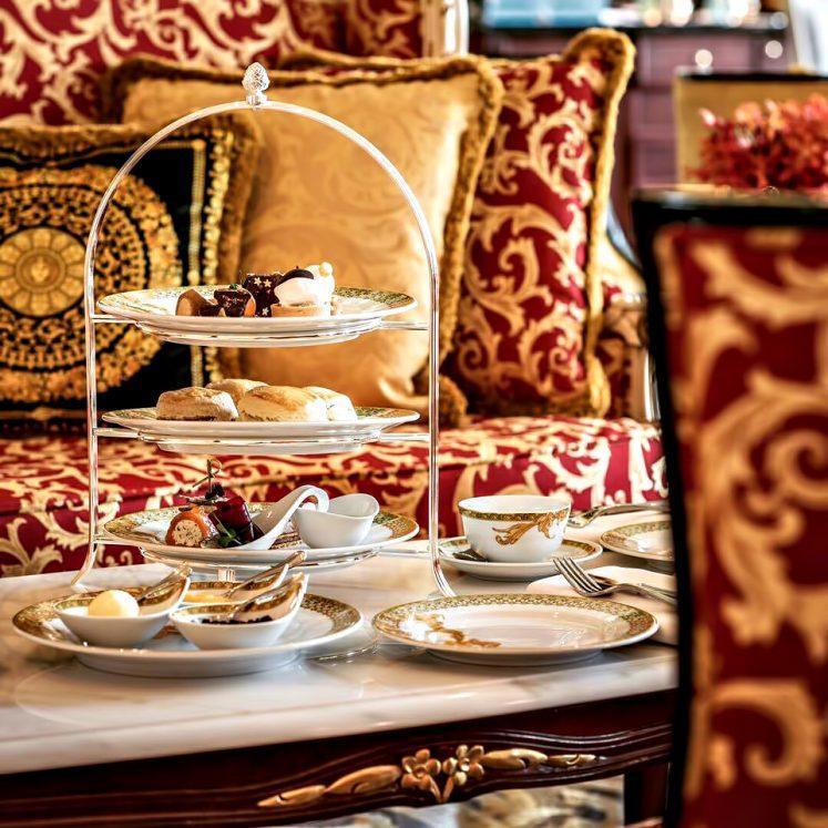 Palazzo Versace Dubai Hotel - Jaddaf Waterfront, Dubai, UAE - Tea Service