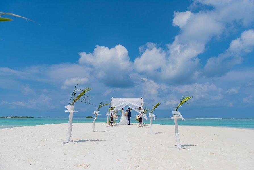 Soneva Jani Luxury Resort - Noonu Atoll, Medhufaru, Maldives - Tropical White Sand Beach Wedding