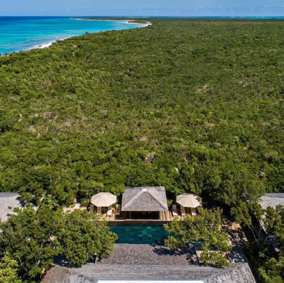 Amanyara Luxury Resort - Providenciales, Turks and Caicos Islands - Villa Pool Aerial View