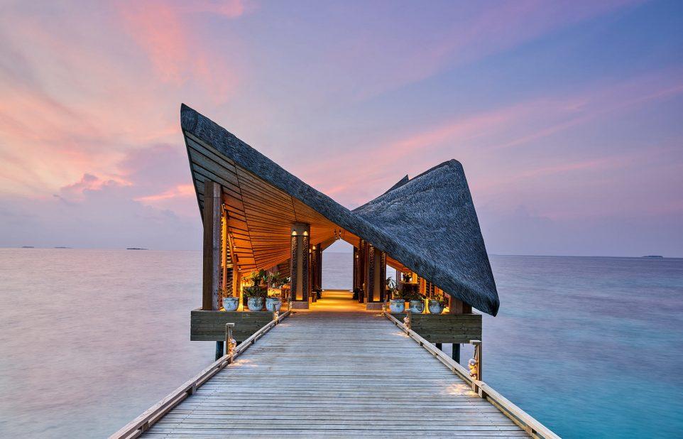 Joali Maldives Luxury Resort - Muravandhoo Island, Maldives - Arrival Jetty Sunset