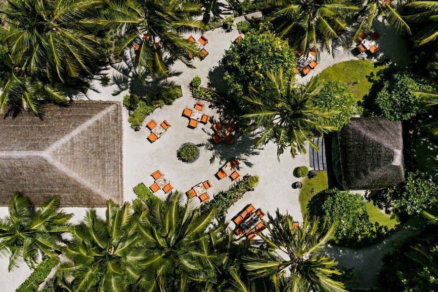 One&Only Reethi Rah Luxury Resort - North Male Atoll, Maldives - Botanica Restaurant Aerial