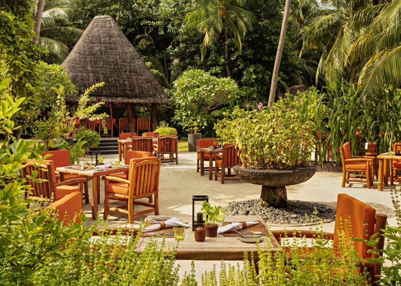 One&Only Reethi Rah Luxury Resort - North Male Atoll, Maldives - Botanica Restaurant Tables