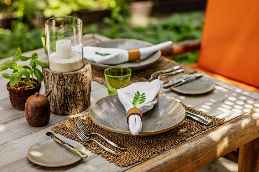 One&Only Reethi Rah Luxury Resort - North Male Atoll, Maldives - Botanica Restaurant Table Setting