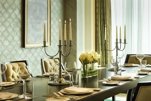 The St. Regis Abu Dhabi Luxury Hotel - Abu Dhabi, United Arab Emirates - Al Manhal Suite Dining Room