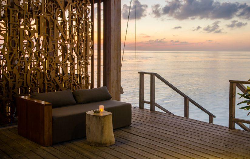 Amilla Fushi Luxury Resort and Residences - Baa Atoll, Maldives - Oceanfront OAK Lounge Sunset