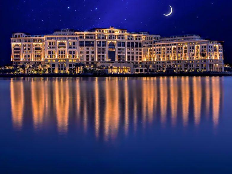 Palazzo Versace Dubai Hotel - Jaddaf Waterfront, Dubai, UAE - Exterior Night