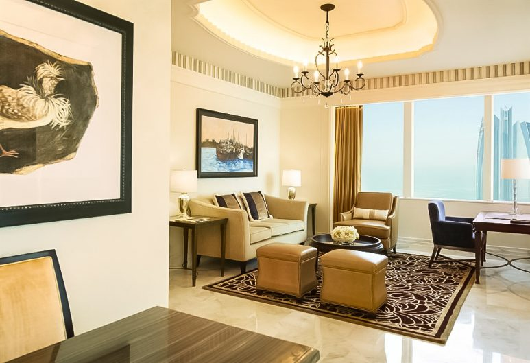 The St. Regis Abu Dhabi Luxury Hotel - Abu Dhabi, United Arab Emirates - St. Regis Suite Living Room