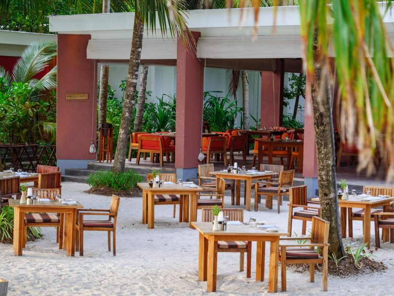 Amilla Fushi Luxury Resort and Residences - Baa Atoll, Maldives - Barolo Grill Restaurant Outdoor Seating