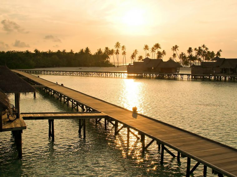 Gili Lankanfushi Luxury Resort - North Male Atoll, Maldives - Overwater Villa Jetty Boardwalk Sunset