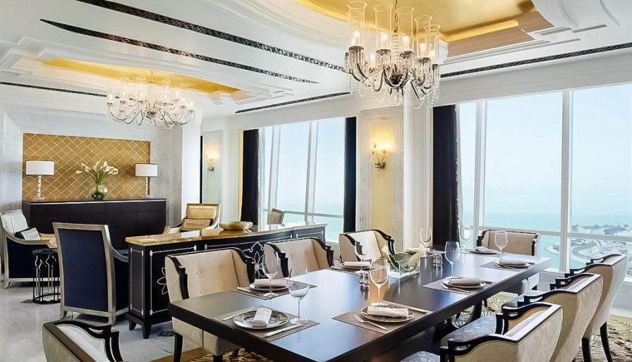 The St. Regis Abu Dhabi Luxury Hotel - Abu Dhabi, United Arab Emirates - Al Hosen Suite Dining Room