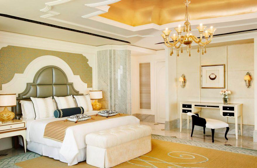 The St. Regis Abu Dhabi Luxury Hotel - Abu Dhabi, United Arab Emirates - Luxury Bedroom Suite Decor