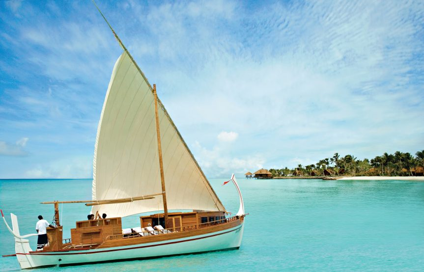 One&Only Reethi Rah Luxury Resort - North Male Atoll, Maldives - Dhoni Boat Arrival