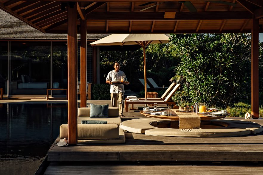 Amanyara Luxury Resort - Providenciales, Turks and Caicos Islands - Poolside Dining