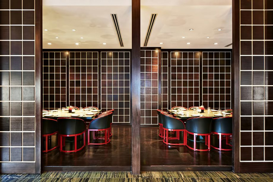 Armani Hotel Dubai - Burj Khalifa, Dubai, UAE - Armani Hashi Dining Area