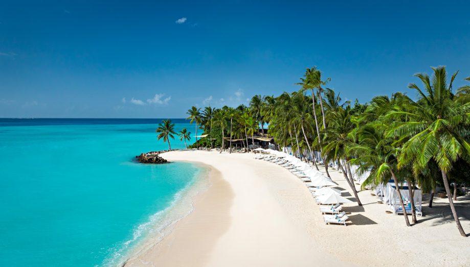 One&Only Reethi Rah Luxury Resort - North Male Atoll, Maldives - Club One Beach Club Aerial