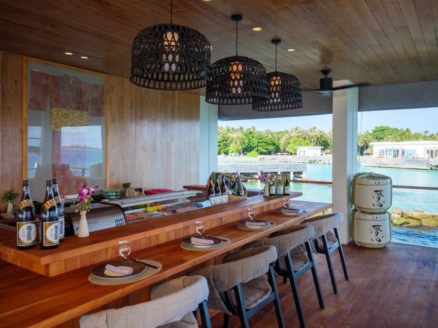 Amilla Fushi Luxury Resort and Residences - Baa Atoll, Maldives - Feeling Koi Overwater Sushi Counter