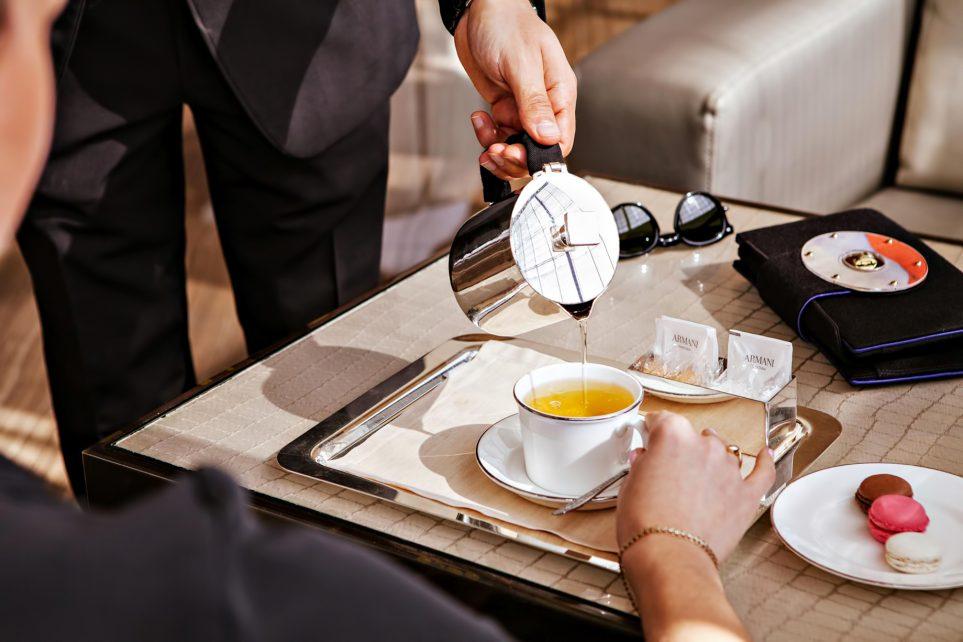 Armani Hotel Dubai - Burj Khalifa, Dubai, UAE - Armani Lounge Tea Service