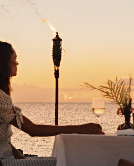 Amanyara Luxury Resort - Providenciales, Turks and Caicos Islands - Sunset Glass of Wine