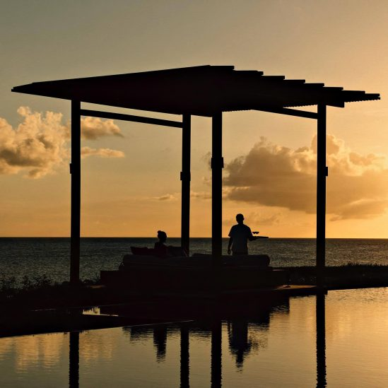 Amanyara Luxury Resort - Providenciales, Turks and Caicos Islands - Sunset Lounge Bar Service
