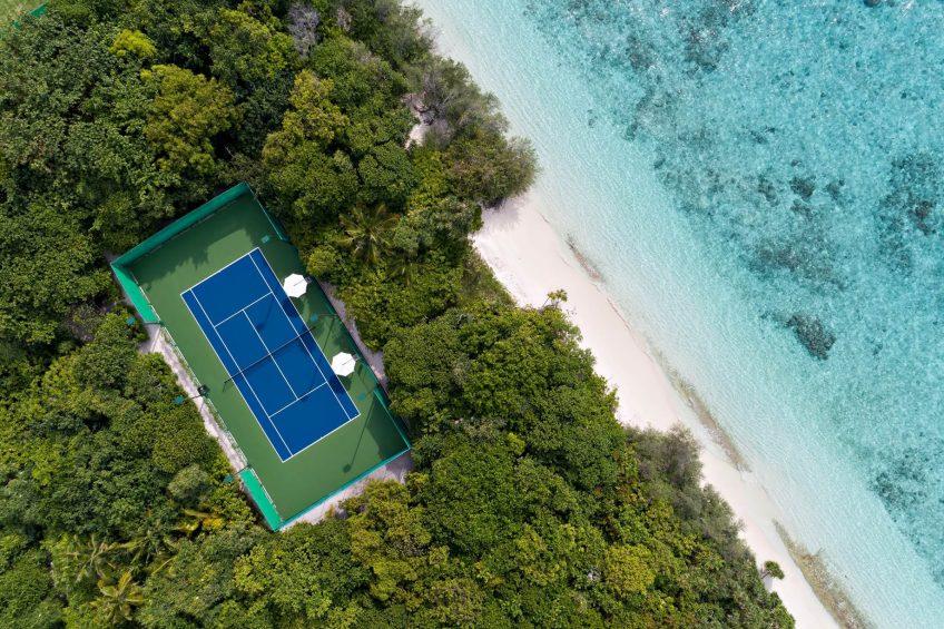 Cheval Blanc Randheli Luxury Resort - Noonu Atoll, Maldives - Tennis Court Overhead Aerial