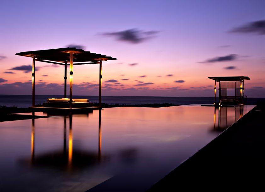 Amanyara Luxury Resort - Providenciales, Turks and Caicos Islands - Infinity Pool Sunset