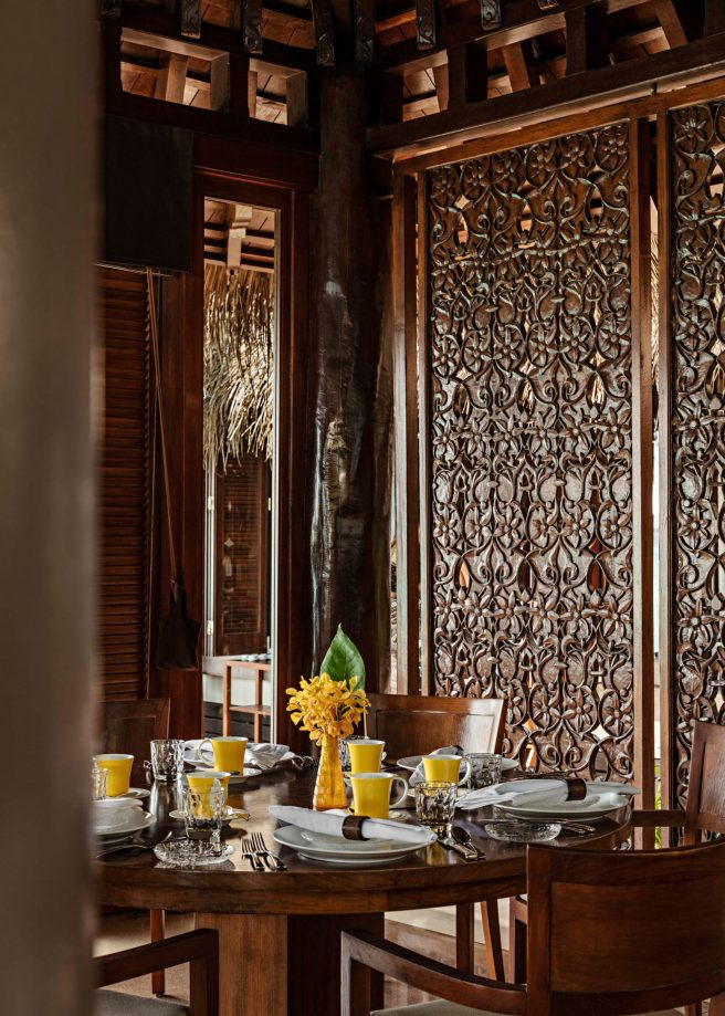 One&Only Reethi Rah Luxury Resort - North Male Atoll, Maldives - International Cuisine Table Setting