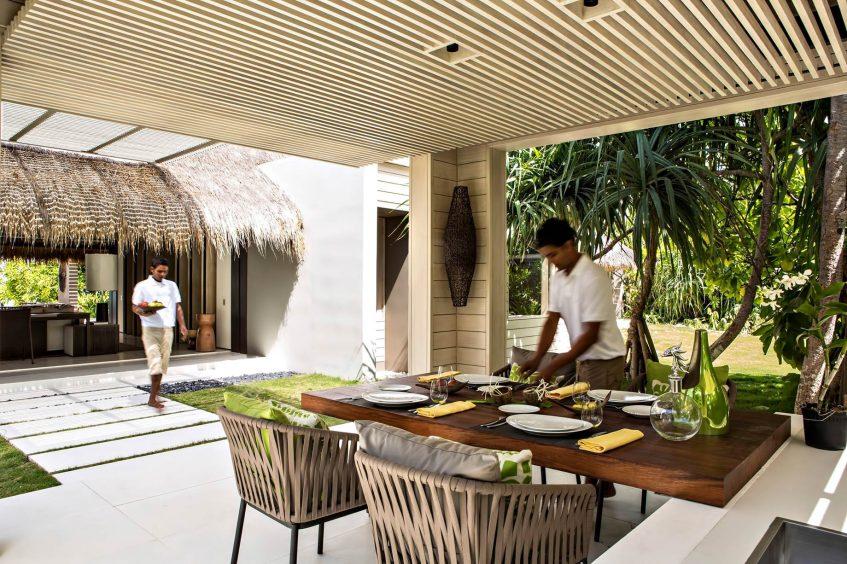 Cheval Blanc Randheli Luxury Resort - Noonu Atoll, Maldives - Island Villa Dining Area