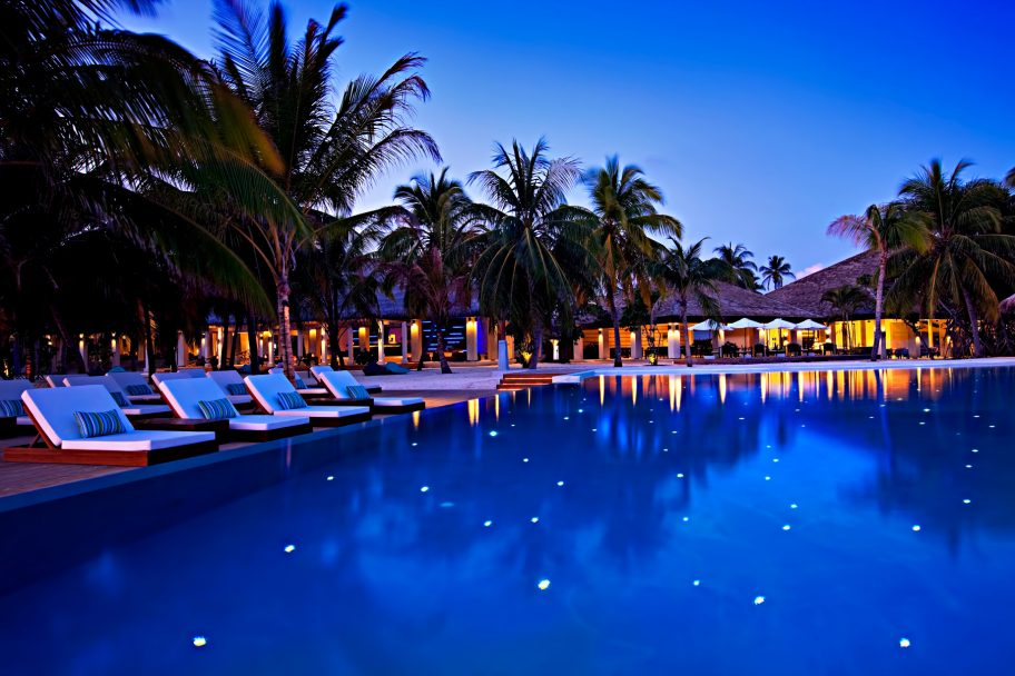 Velassaru Maldives Luxury Resort – South Male Atoll, Maldives - Pool Sunset