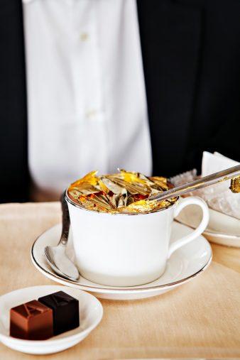 Armani Hotel Dubai - Burj Khalifa, Dubai, UAE - Armani Lounge Cappuccino With 23 Carat Gold Flakes