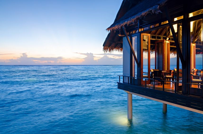 One&Only Reethi Rah Luxury Resort - North Male Atoll, Maldives - Tapasake Restaurant Oceanview Tables