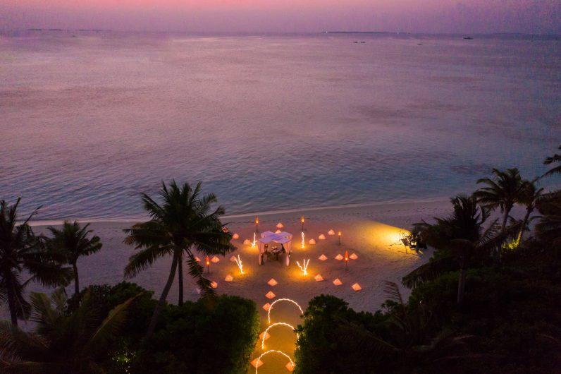 Soneva Jani Luxury Resort - Noonu Atoll, Medhufaru, Maldives - Private Island Beach Dinner Sunset