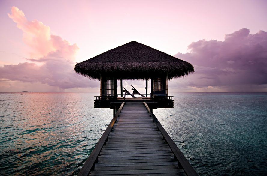 One&Only Reethi Rah Luxury Resort - North Male Atoll, Maldives - Overwater Yoga Deck Twilight